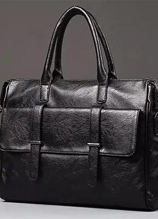 Мужской кожаный новый стильный портфель сумка для документов н...
