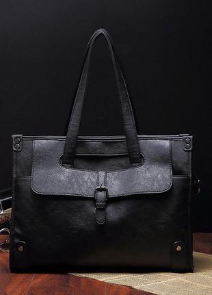 Мужской кожаный новый стильный портфель для документов сумка д...