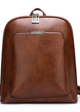 Женский светло-коричневый новый стильный городской рюкзак порт...
