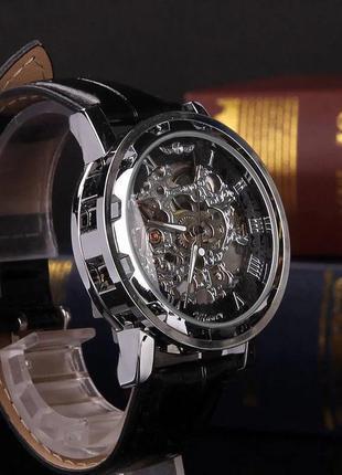 Мужские наручные механические новые часы skeleton