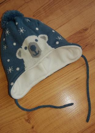 Шапочка тёплая для новорожденных
