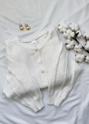 Кофта, кардиган, джемпер, пуловер, белая, белый, білий, біла, ...