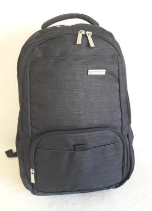 Городской офисный рюкзак prince travel для ноутбука черный