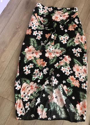 Вискозная юбка в цветочный принт george