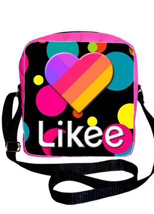 Сумка барсетка принт Likee Video Box Лайки Видео купить сумку