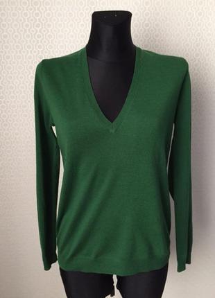 Джемпер сочного зеленого цвета из тонкой качественной шерсти о...
