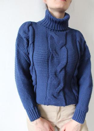 Супер модный свитер крупная вязка