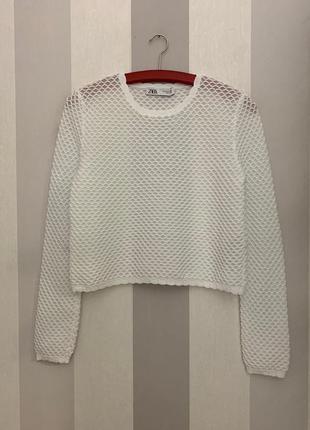 Укороченный свитер zara, новый!