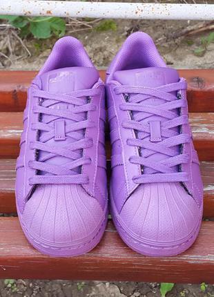 Кожаные кроссовки adidas superstar 36 р. оригинал