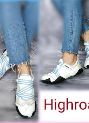 37-38р новые германия highroad,легкие белые, спорт.кеды кроссо...