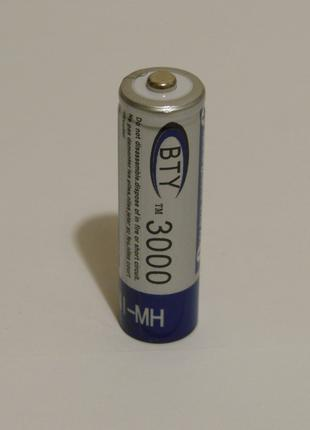 Аккумулятор батарейка BTY АА 3000mah 1.2v 1шт.