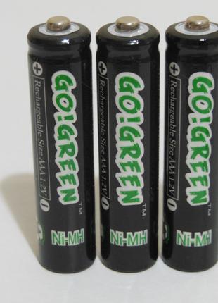 Аккумулятор батарейка go!green aaa 1350mah 1.2v 3шт.