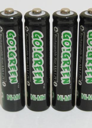 Аккумулятор батарейка go!green aaa 1350mah 1.2v 4шт.