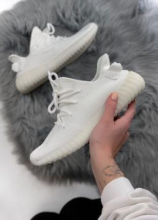 Кроссовки Adidas x Yeezy Boost 350 черные, белые Адидас Изи Бу...