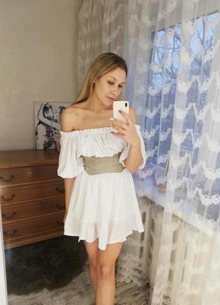 Платье летнее (размер м), летний сарафан, белое платье