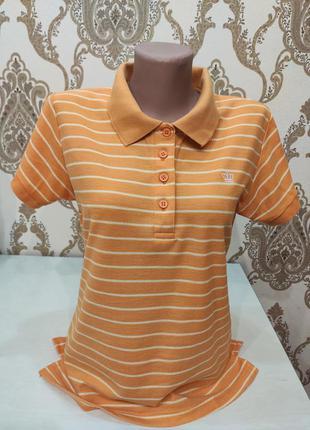 X-mail оранжевое полосатое поло, футболка поло