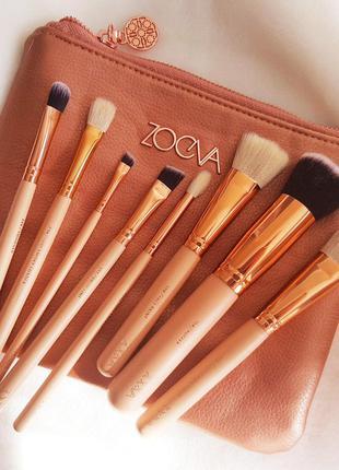 Набор кистей для макияжа Zoeva в косметичке 8 штук