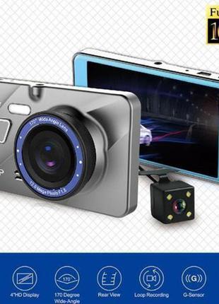 Видеорегистратор A10 с камерой заднего вида видео регистратор ...