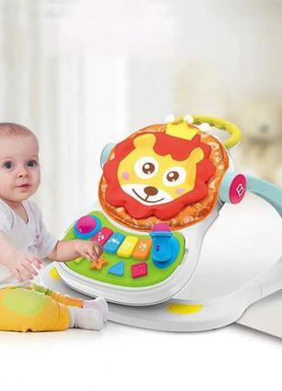 Музыкальные детские ходунки WALKER с игровой панелью толкатель...