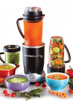 Кухонный блендер NutriBullet 1700W 12 предметов измельчитель к...