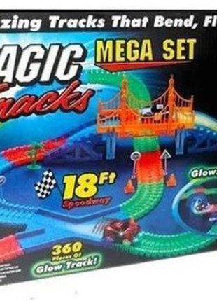 Magic Tracks 360 деталей светящийся магик трек гоночная трасса...