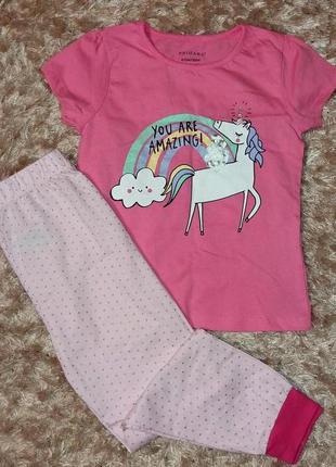 Пижама для девочки 6-7 лет