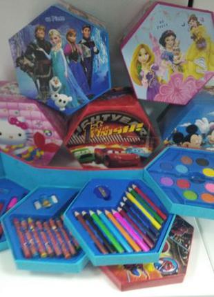 Детский набор для рисования 46 предметов карандаши фломастеры ...