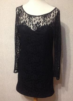 Платье atmosphere,черный гипюр,р.м