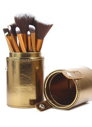 Набор кистей для макияжа  Urban Decay NAKED 2 в тубе 12 шт. Gold