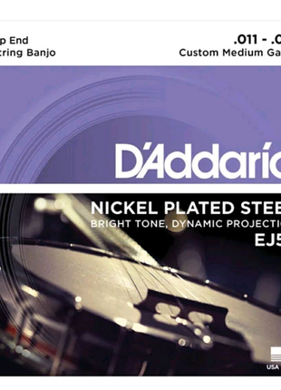 Струны для банджо D`ADDARIO EJ57