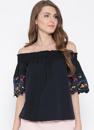 Блузка с открытыми плечами с вышивкой,этно бохо стиль,marks an...