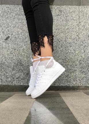 Женские белые кроссовки адидас, кеды стен смит adidas stan smi...