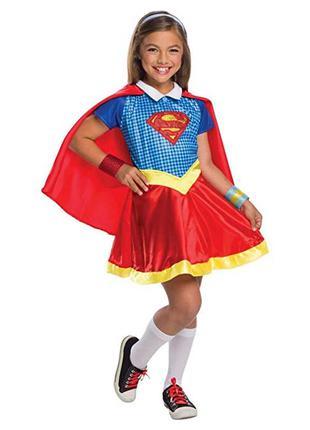 Карнавальный костюм superhero супергёрл на 4-5 лет. оригинал и...