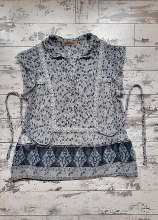 See by chloe шелковая блуза с цветочным принтом шелк блузка