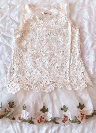 Нежное воздушное летнее платье