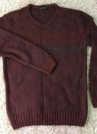 Тёплый качественный свитер foriss fashion man турция