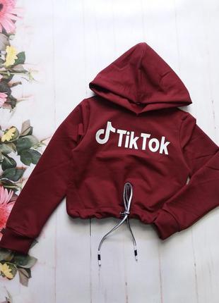 """Кроп-топ """"tik-tok"""" ткань:турецкая двухнитка. размеры:128-134-1..."""
