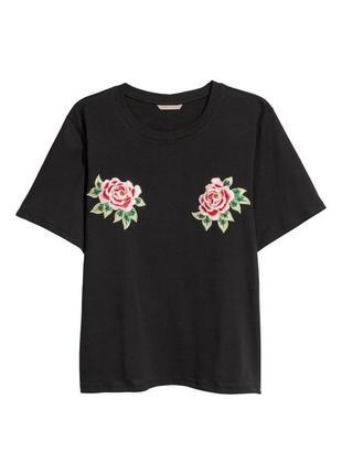 #розвантажуюсь  футболка h&m с вишивкой