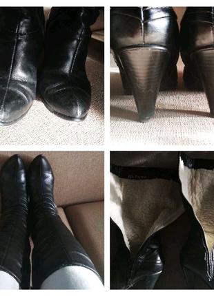 Чоботи зима шкіра / сапоги зимние кожа ботинки сапожки