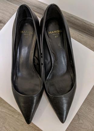 Туфли лодочки из кожи