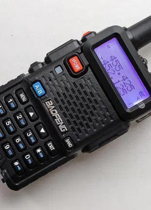 Рация Baofeng UV-5R + гарнитура. Новая, оригинальная, цвет чёрный