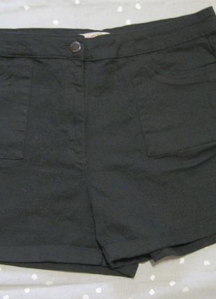 Женские короткие шорты papaya р.50 черные