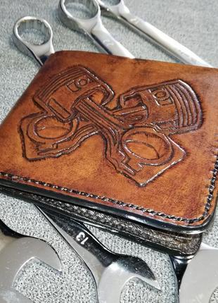Кошелек кожаный (гаманець) ручной работы