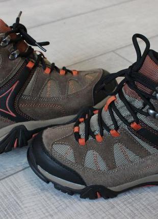 Термо ботинки hi-tec waterproof dri-tec натур. замш