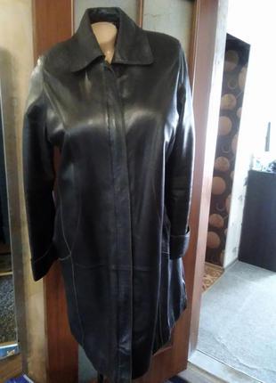 Мягчайший легенький кожаный плащик, большого размера