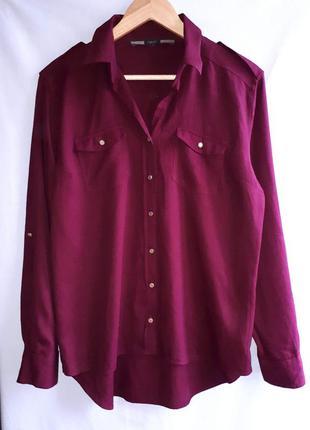 Крутая бордовая рубашка next раз.м-l