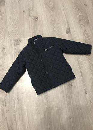 Стильная стёганная демисезонная куртка для мальчика 2-3 лет