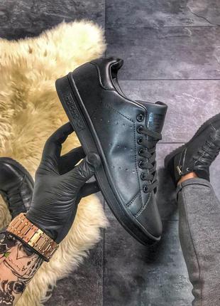 Стильные кроссовки 😍 adidas stan smith triple black😍