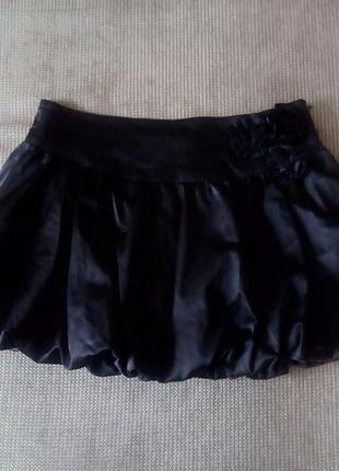 Атласная юбка- баллон