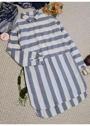 Платье-туника в полоску next/рубашка-туника полосатая